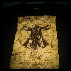 STAR WARS Darth Vader black XL shirt gold graphics